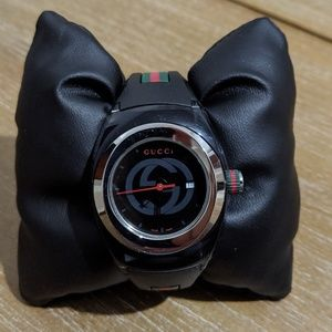 GUCCI Sport Sync G-Timeless Rubber Band L Black